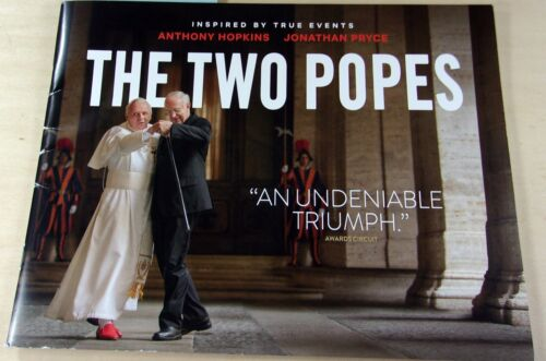 THE TWO POPES FYC  PROMO PRESS BOOK BOOKLET ANTHONY HOPKINS JONATHAN PRICE