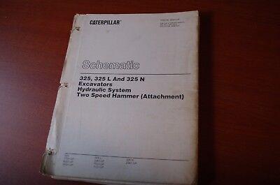 Caterpillar 325 Excavator Hammer Hydraulic Schematic Repair Service Manual L N
