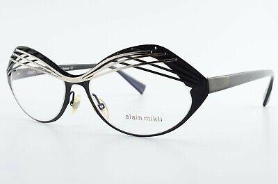 ALAIN MIKLI Brille AL1290 MOCD 53[]15 140 Eyelashes Frame Black c2013 +Case CE