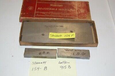 C1  Starrett 154 B F And Lufkin 915 B Adjustable Parallels Tool
