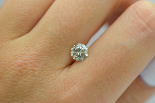 GIA Certified Diamond Loose 1 ct Fancy Yellow Brown Round Brilliant Natural Real 3