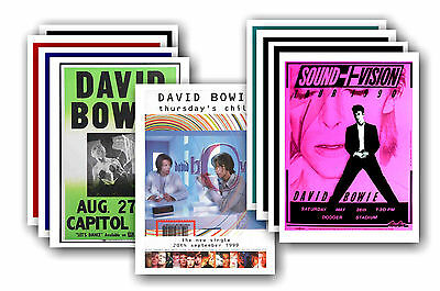 DAVID BOWIE  - 10 promotional posters - collectable postcard set # 2