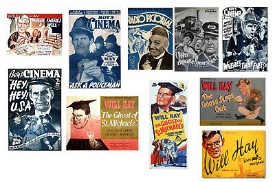 WILL HAY - FILM POSTER POSTCARD SET # 1
