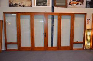 CEDAR 4 PANEL BIFOLD DOOR 4410x 2100H 6MM GLASS, NEW FULLY BUILT Canberra City North Canberra Preview