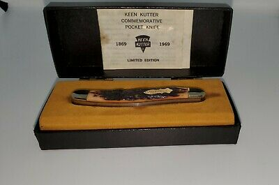 Schrade Walden Knife Keen Kutter 1869-1969 100th Anniversary Hinged Case RARE