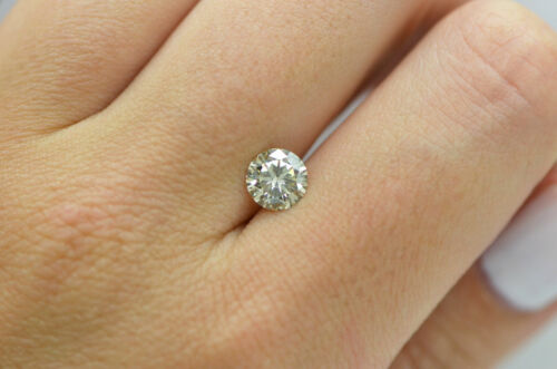 GIA Certified Diamond Loose 1 ct Fancy Yellow Brown Round Brilliant Natural Real 5