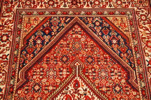 C1930s Antique Persian Sarouk Rug 3.7x5.3 Wonderful Color Combo_super Detailed