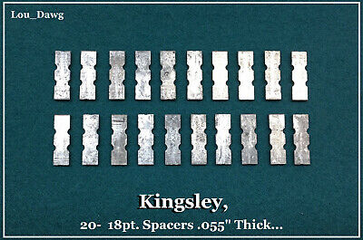 Kingsley Machine  20- 18pt. Spacers .055 Thick  Hot Foil Stamping Machine