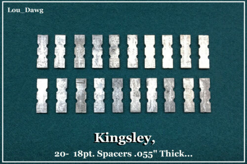 """Kingsley Machine (  20- 18pt. Spacers .055"""" Thick  ) Hot Foil Stamping Machine"""