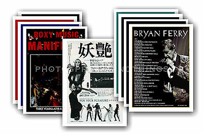 ROXY MUSIC / BRYAN FERRY  - 10 promotional posters  collectable postcard set # 1