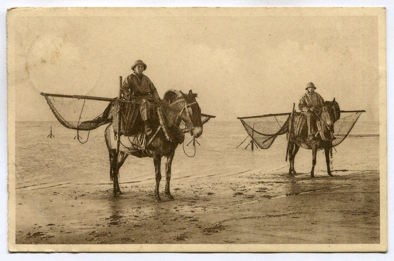 CPA - Carte Postale - Belgique - Blankenberge - Pêcheurs de Crevettes (SV6347)