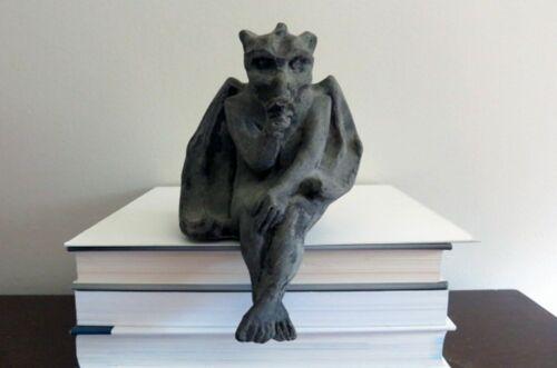 Baby Goyle Gargoyle Thumb Sucking Shelf Sitter Concrete Sculpture Figure Statue