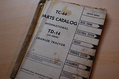Ih International Td-14 Tractor Dozer Crawler Spare Parts Manual Book Catalog