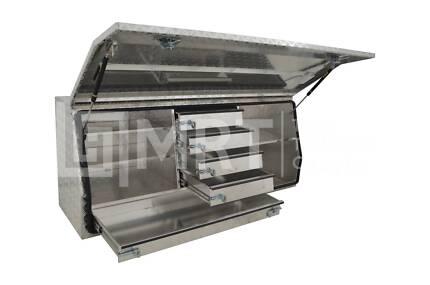 ALUMINIUM FULL OPENING TOOLBOXES W/ DRAWERS MRT21–1450x500x700mm