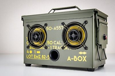 THE ORIGINAL AMMO CAN BOOMBOX Bluetooth Speaker 2019 THODIO .50 CAL A-BOX