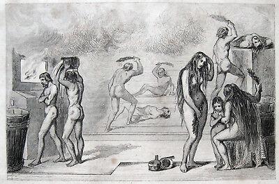 "DAMPFBAD HAMMAM SAUNA RUSSLAND BATH 1840 ""BAINS RUSSES"" STEAMBATH RUSSIA"