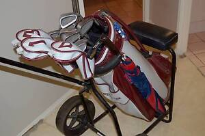 Set of Golf clubs and cart Morayfield Caboolture Area Preview