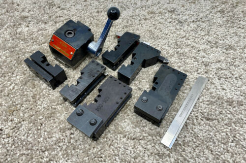 KDK 00 SERIES QUICK-CHANGE TOOL POST + 6 HOLDERS - JEWLERS LATHE TOOL