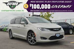 2017 Chrysler Pacifica Limited - Pwr Doors, DVD, Sunroof, Blueto