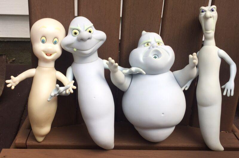 Lot of 4 Amblin Ghosts, Casper, Stinky, Fatso, & Stretch