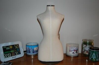 Vintage Lifestyle Dress Form Half Body Mannequin Adjustable W Stand. The Pair