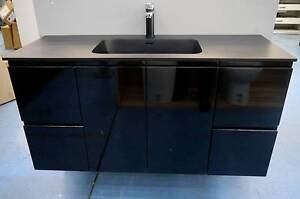 New Black Fienza Montana Wall Hung 1200 Gloss Bathroom Vanity Melbourne CBD Melbourne City Preview