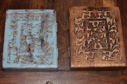 Hand carved wooden boxes - sale proceeds to be donated