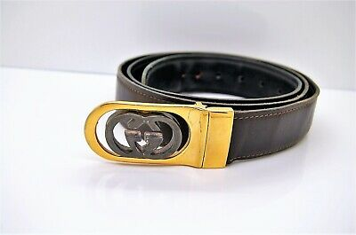 GUCCI GG Vintage 80's Reversible Belt. Made in Italy
