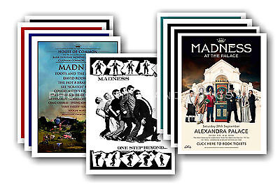 MADNESS  - 10 promotional posters  collectable postcard set # 2