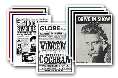 EDDIE COCHRAN  - 10 promotional posters - collectable postcard set # 2