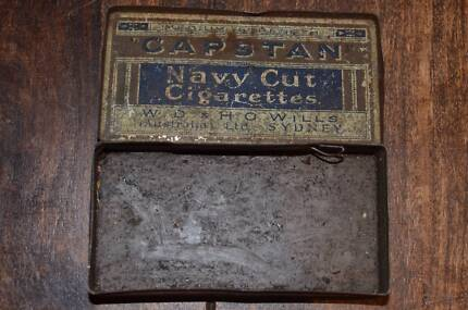 Vintage Capstan tin box - sale proceeds to be donated
