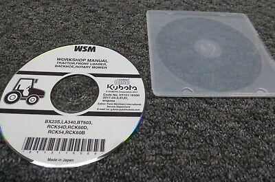 Kubota Rck54 Rck60b Rotary Mower Deck For Bx23s Shop Service Repair Manual Cd
