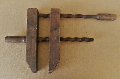 Antique Wooden Clamp Woodworking Tool Hand Screw Vise 10