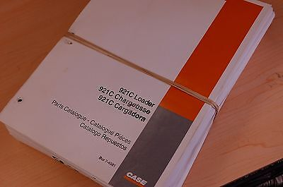 Case 921c Wheel Loader Parts Manual Book Catalog Spare List Pay 2000 Front End