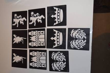 Arts and Crafts 10 x Picture Stencils