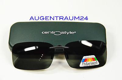 Sonnenclip Sonnenbrille für Kunststoff Brillen Polarisierend Grau Grün Neu
