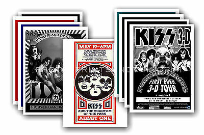 KISS  - 10 promotional posters - collectable postcard set # 1