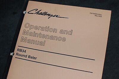 Caterpillar Challenger Rb34 Round Baler Owner Operator Maintenance Manual Guide