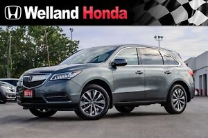 2016 Acura MDX NAVI AWD | ACCIDENT FREE | ONE OWNER | LOW KMS