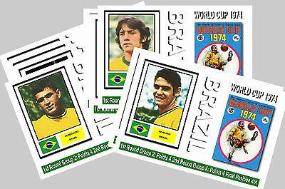 BRAZIL - 1974 WORLD CUP  SERIES 1 - COLLECTORS POSTCARD SET