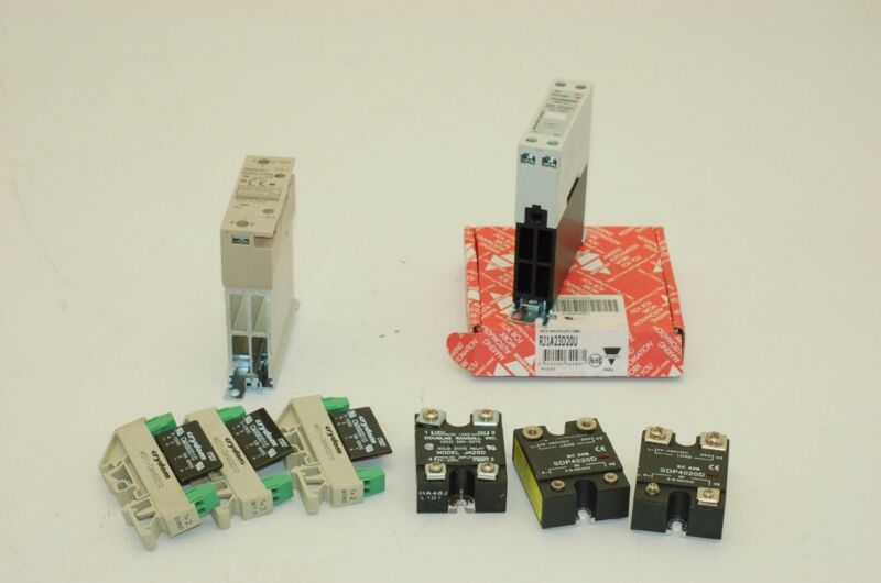 Solid State Relays, Omron, Carlo Gavazzi, Crydom - Lot of 8 (amm)