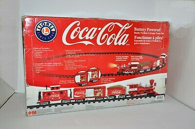 Coca-Cola Lionel Train Set G-Gauge Battery Powered Christmas NIB 7-11488