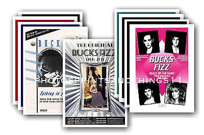 BUCKS FIZZ  - 10 promotional posters - collectable postcard set # 3