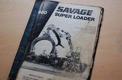 Savage 480 R Log Skidder Owner Operator Repair Shop Maintenance Parts Manual