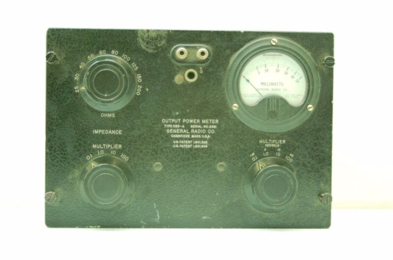 Vintage GR Type 583-A Output Power Meter 0.1-5k mW 2.5-20k Ohms General Radio CO