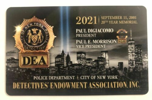2021 NYPD DEA Detectives Association PBA card / NEW YORK CITY POLICE DEPARTMENT