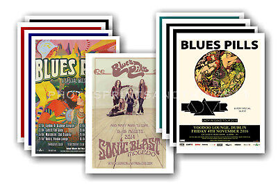 BLUES PILLS - 10 promotional posters  collectable postcard set # 1