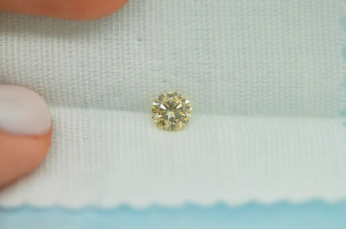 GIA Certified Diamond Loose 1 ct Fancy Yellow Brown Round Brilliant Natural Real 6
