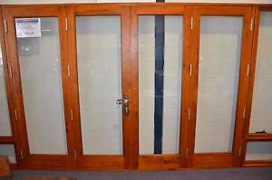 SOLID CEDAR BIFOLD DOOR, 2950 x 2100H 4 PANEL BIFOLD, 6MM GLASS Canberra City North Canberra Preview