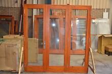 BIFOLD DOOR, SOLID CEDAR, 2130x2200H, 6MM TOUGHENED GLASS Vineyard Hawkesbury Area Preview